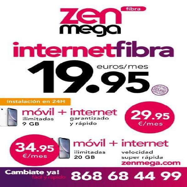 Internet fibra 19,95€ mes