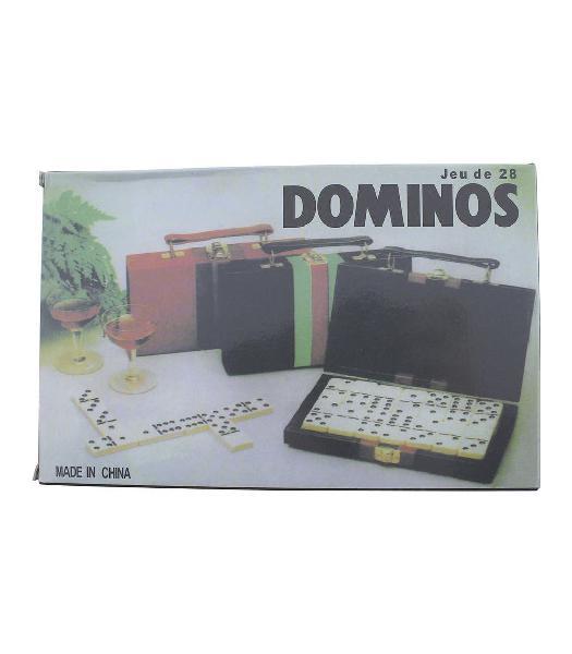 Juego de dominó 28 fichas con estuche