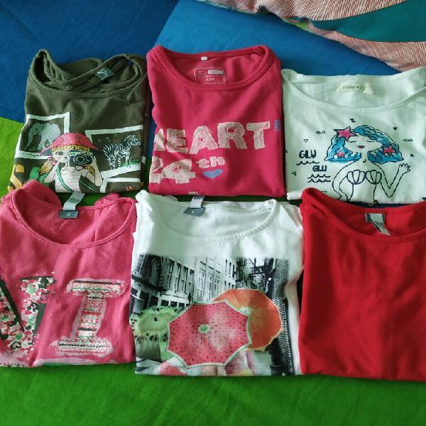 Lote camisetas niña t6
