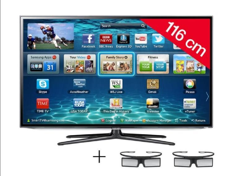 Tv smart tv, 46. 3d samsung