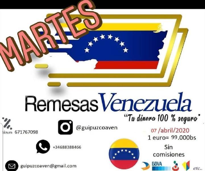 Envíos a venezuela con la mejor tasa