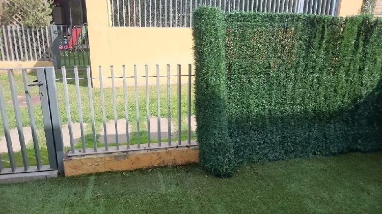 Jardín pongo brezo - cañizo - seto artificial