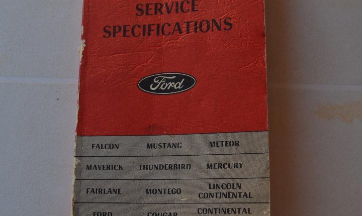 1970 ford catálogo de especificaciones de servicio mustang