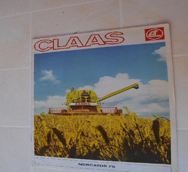 1977 catálogo class mercator 75 - agricola