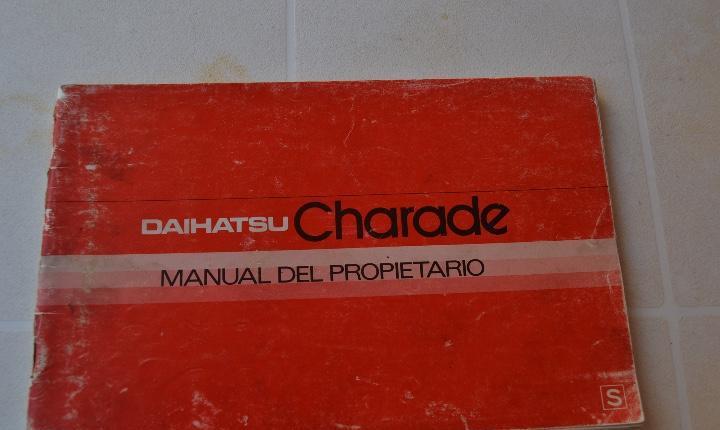 1980`s daihatsu charade 1.0 manual del propietário