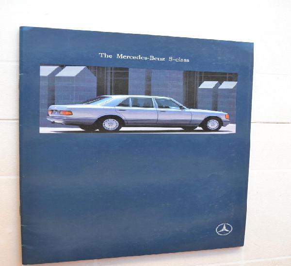 1989 catálogo mercedes benz s class