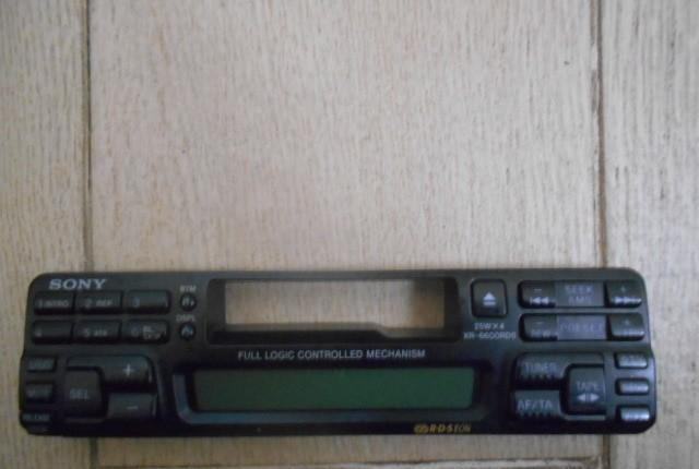 Frontal radio cassette sony xr - 6600 rds