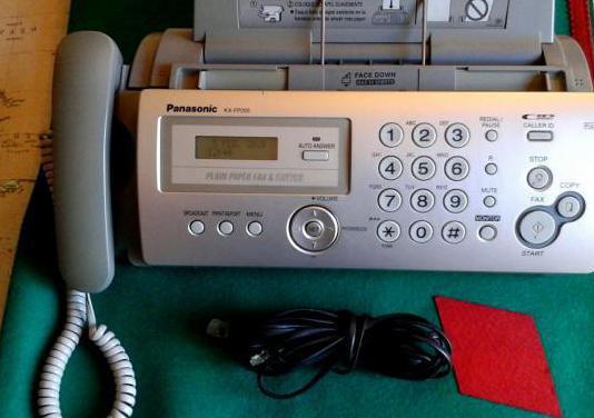 Fax teléfono panasonic.