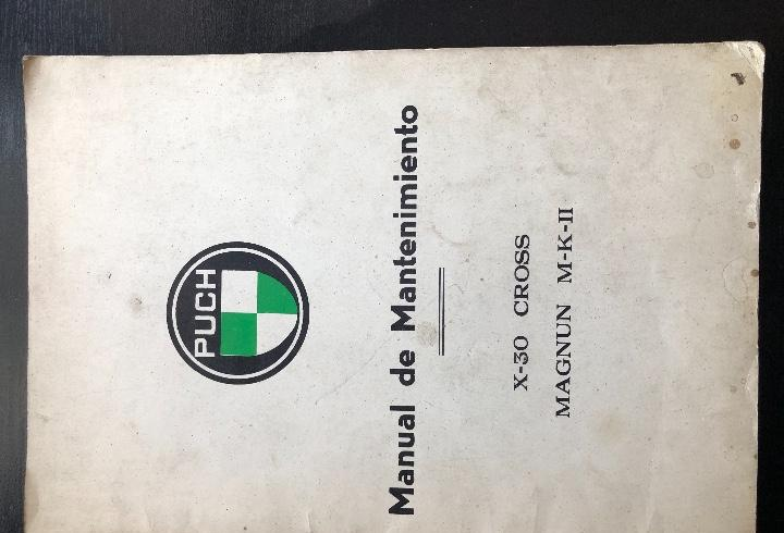 Manual mantenimiento puch original fabrica modleos x-30