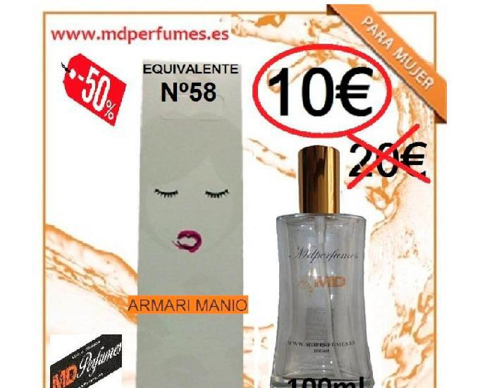 Perfume mujer equivalente nº58 armari manio alta gama 10€