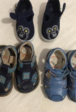 Lote calzado infantil. 3 pares. talla 21