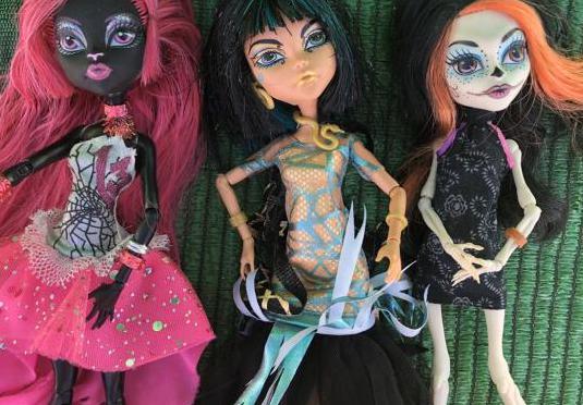 Muñecas moster high lote las tres