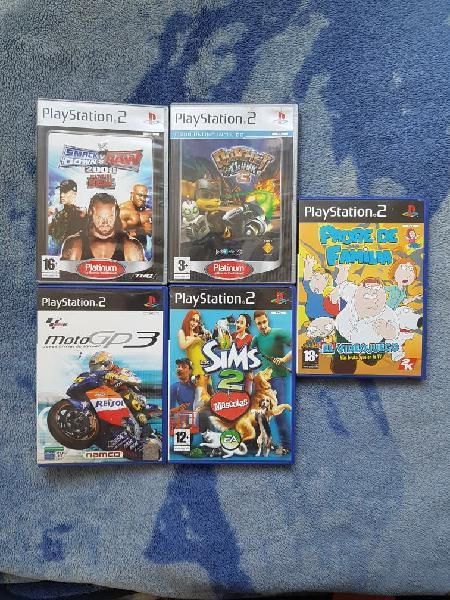 Lote juegos variados ps2