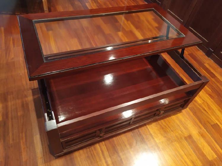 Mesa de centro madera abatible nueva