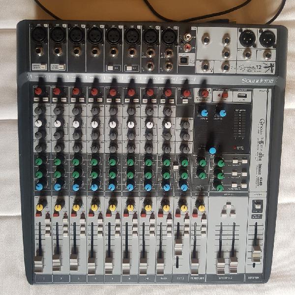 Mesa mezclas soundcraft mtk12 multipistas usb