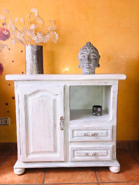 Mueble recibidor madera maciza vintage