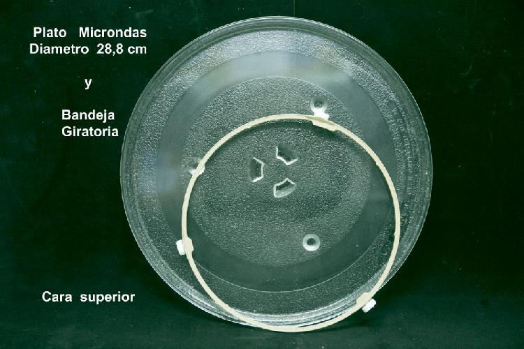 Plato y bandeja giratoria microndas