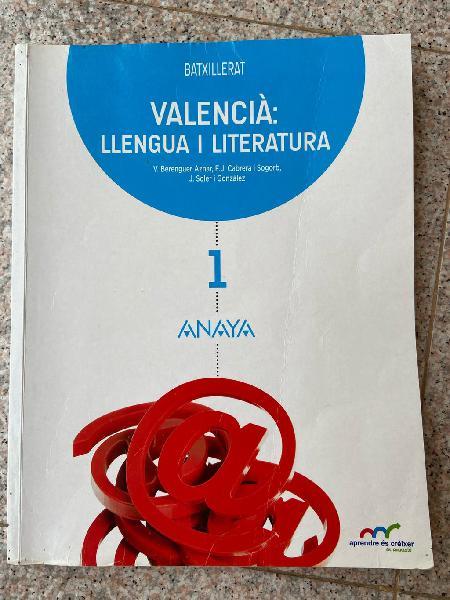 Valencià: llengua i literatura 1 batxillerat.