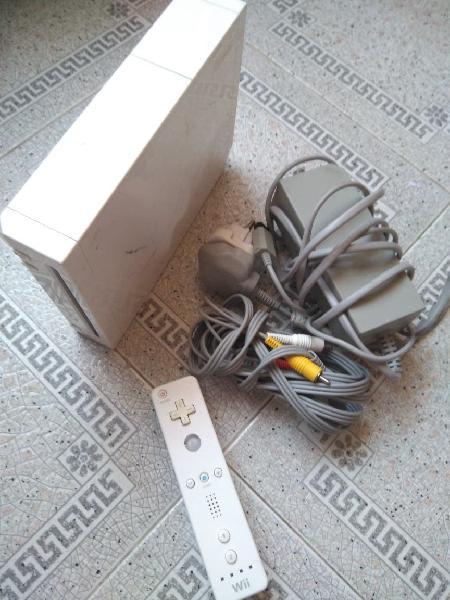 Consola wii cables y mando