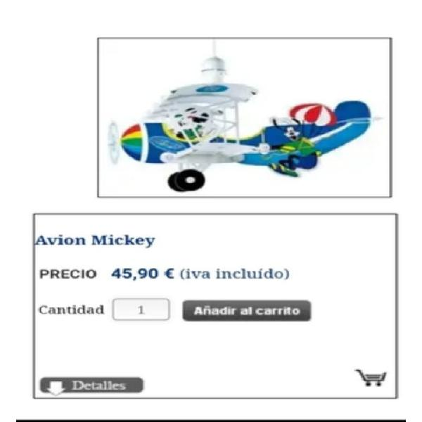 Lampara infantil mickey mouse