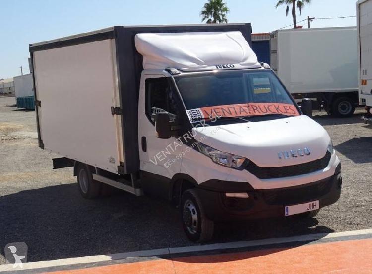 Camión iveco caja abierta transporte de bebidas daily 50c35