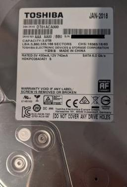 Toshiba dt01aca300 disco duro interno 3 tb