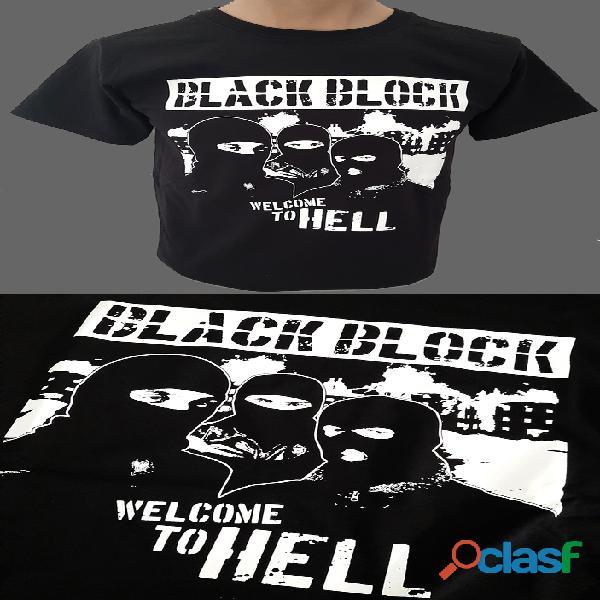 Camiseta black block (tallas para chico/a). también en sudadera con capucha.