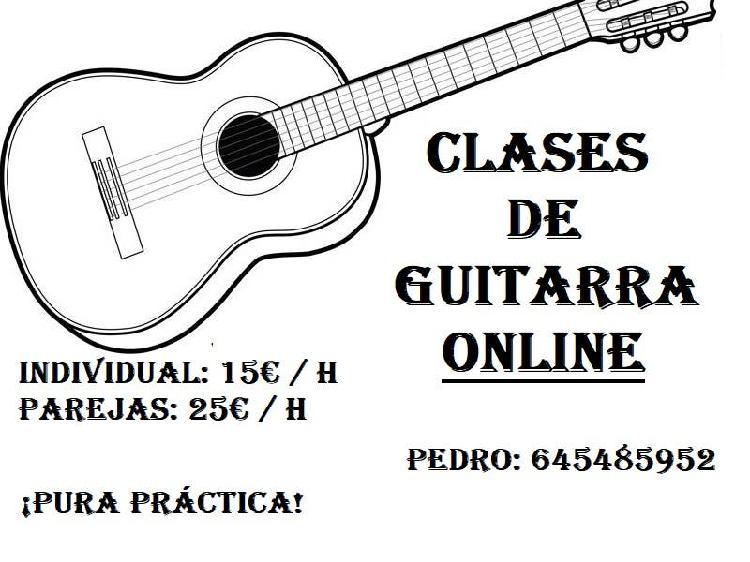 Clases de guitarra online skype
