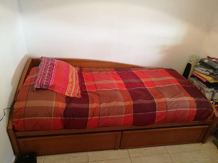 Cama individual con colchón