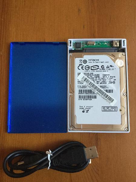 Disco duro de portátil en caja externa 160 gb