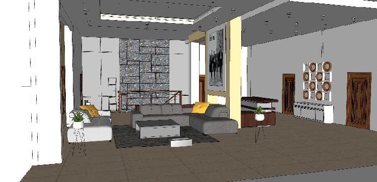 Diseño y dibujo de interiores en 3d realistico