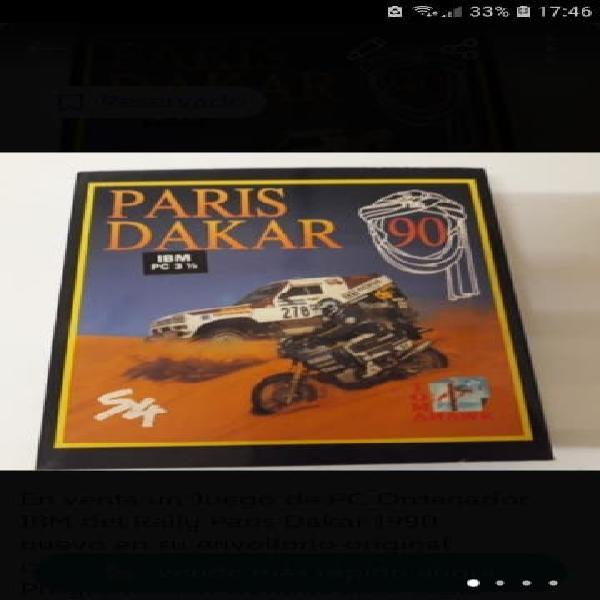 Juego de pc ordenador ibm rally paris dakar 1990