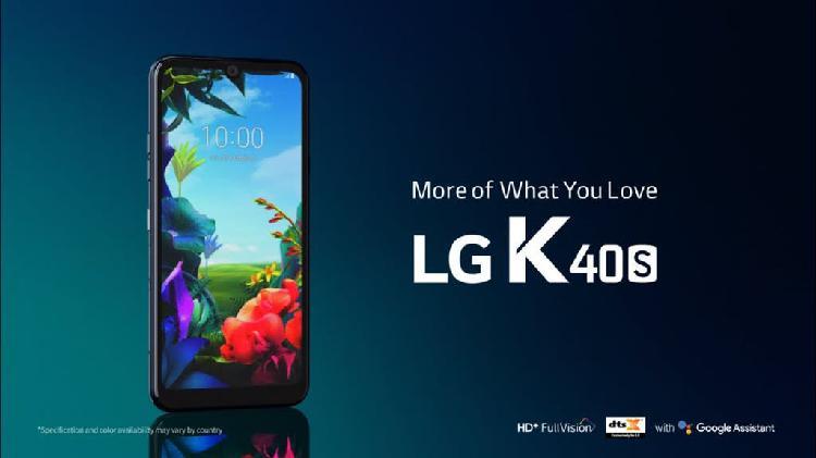 "Lg k40s nuevo de 2020 32 gigas pantalla 6,2"""