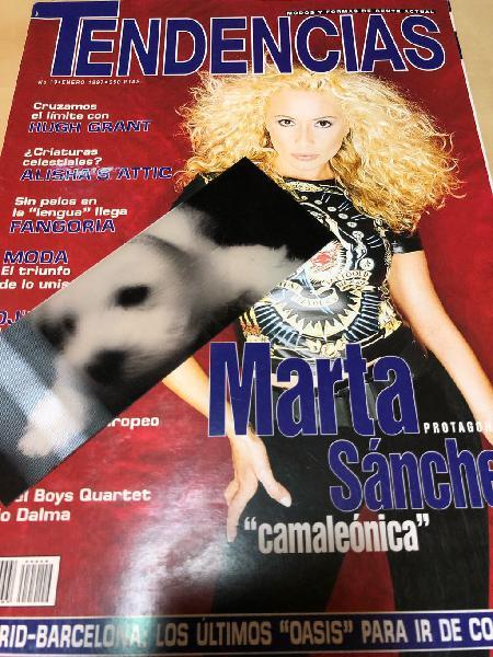 Marta sánchez - lote 3 revistas años 1998-1998