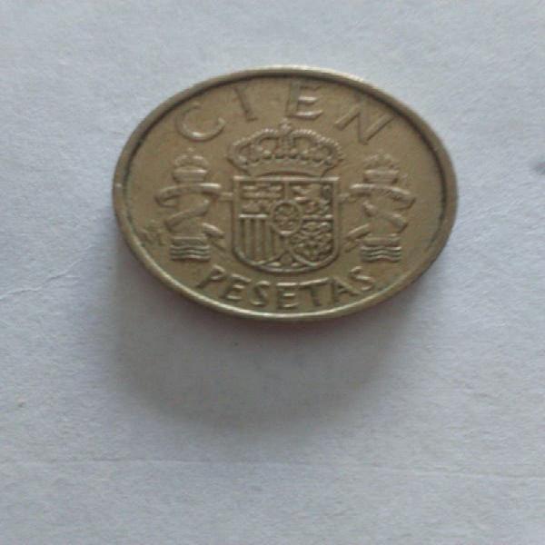 Moneda 100 pesetas juan carlos