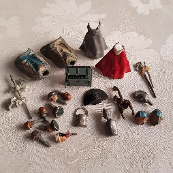 Partes de soldados de plomo para restaurar figuras