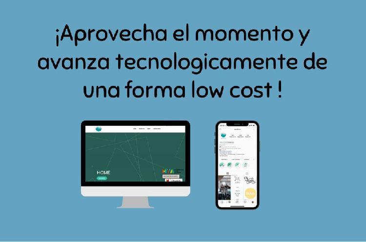 Páginas web y redes sociales low cost