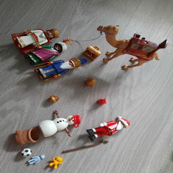 Reyes magos y papa noel playmobil