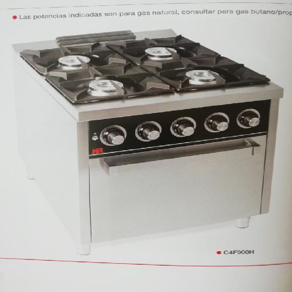 Cocina 4 fuegos mas horno fondo 900