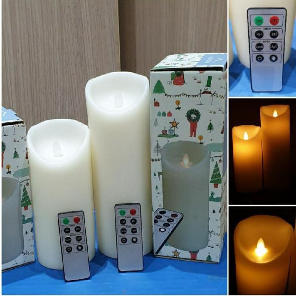 Nuevo precintado 2 velas mando distancia cera real
