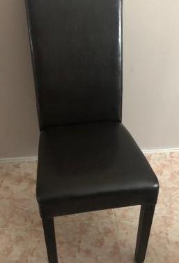 8 sillas comedor polipiel