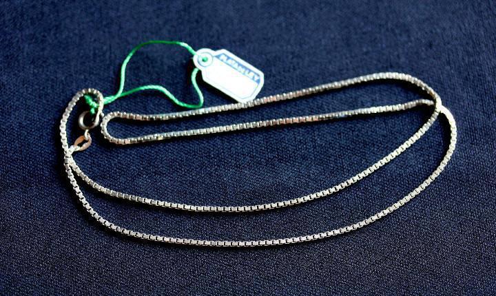 Cadena collar plata ley 50cm, a estrenar
