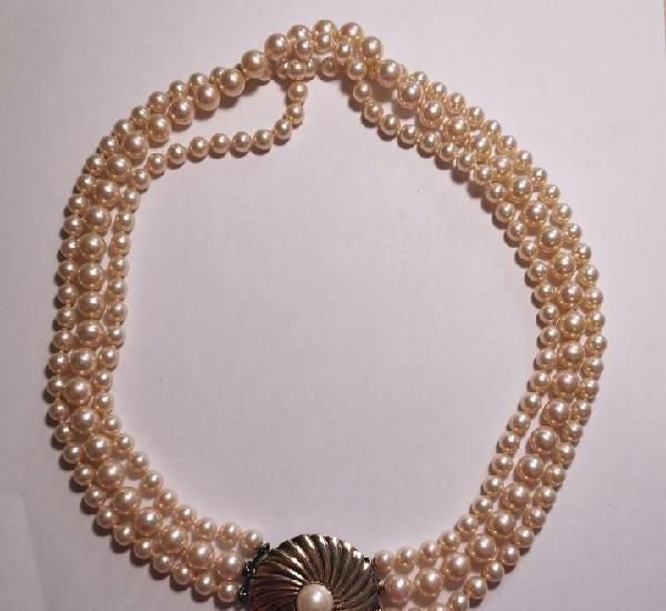 Collar perlas majorica - nuevo de tienda de cierre - precio