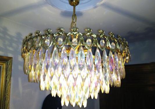 Lámpara vintage dorada