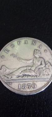 Moneda de plata de la i republica, año de 1