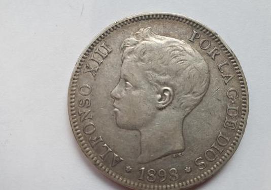 Moneda 5pts 1898