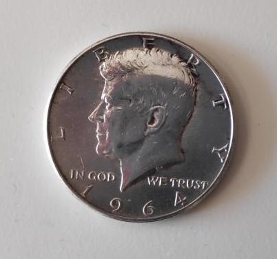 Moneda plata 1/2 dolar kennedy