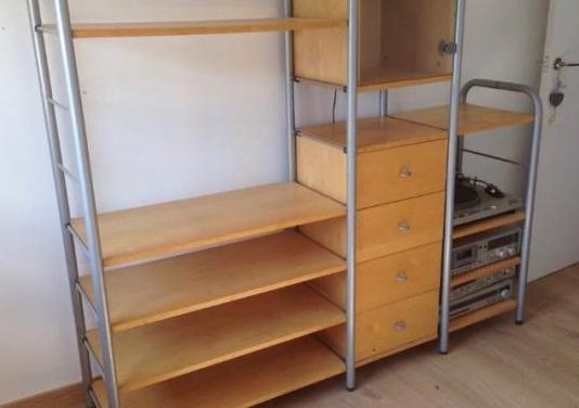 Mueble modular de madera natural de ikea