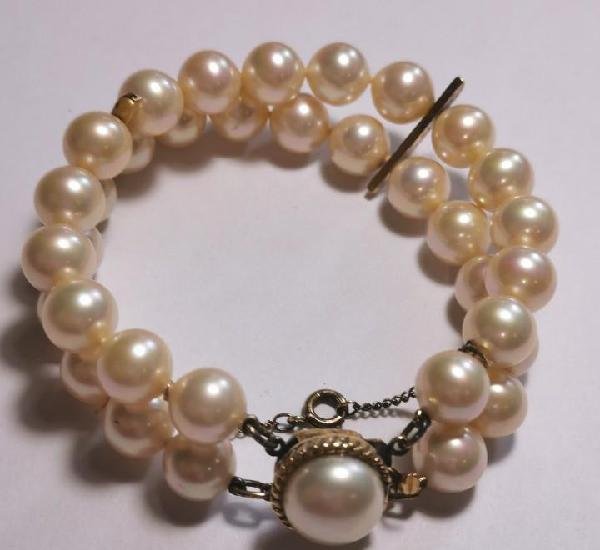 Pulsera perlas majorica - nueva de tienda de cierre - precio