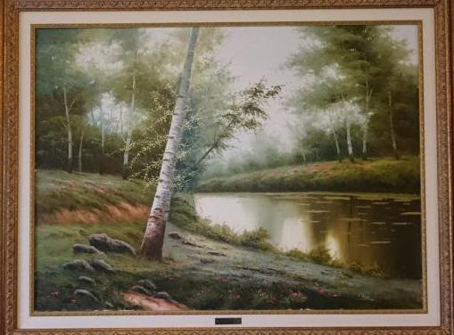 Paisaje pintado al óleo por rafael ruz